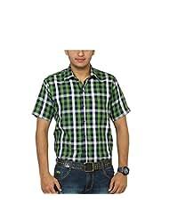 Across Seas Navyblue And Green Check Shirt