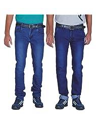 ALLY Of Focker Combo Of Men's Basic & Dark Blue Stretchable Jeans