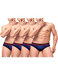 VIP Frenchie Pro Cotton Briefs - Assorted Pack Of 4 (Colors May Vary)