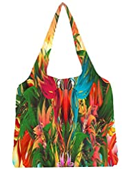 Snoogg Digital Bird Graphic Womens Jhola Shape Tote Bag