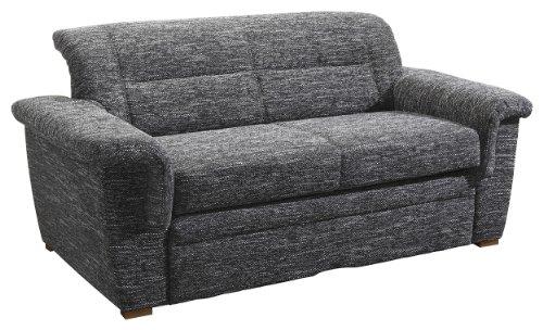 iovivo Sofa 2-Sitzer (ohne Bettfunktion, Mikrovelours schwarz)