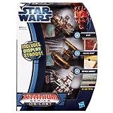 Star Wars Die Cast Titanium Vehicle - AT_TE, Hailfire Droid, Republic Gunship