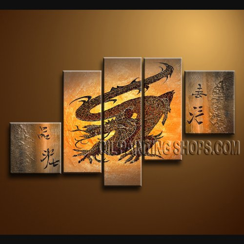 Sale Huge Abstract Modern Painting Feng Shui Item Living Room Wall Art Decor Dragon Signed Original By Bo Yi Art Studio 72 X 40 Compare Price Svcdbgkul