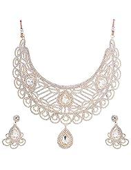 Nimble Golden Metal Choker Necklace Set For Women - B00XVML7RY