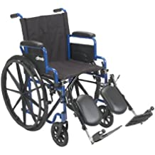 Drive Medical BLS18FBD-ELR Wheelchair With Flip Back Desk Arms And Elevating Leg Rests