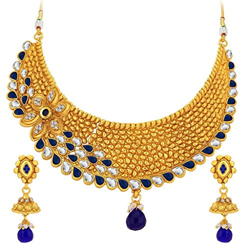 Sukkhi Attractive Gold Plated Kundan Necklace Set For Women