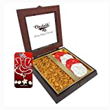 Chocholik Premium Gifts - Unique Gift With Almonds & Belgium Chocolate Rocks With 3d Mobile Cover For IPhone 6...