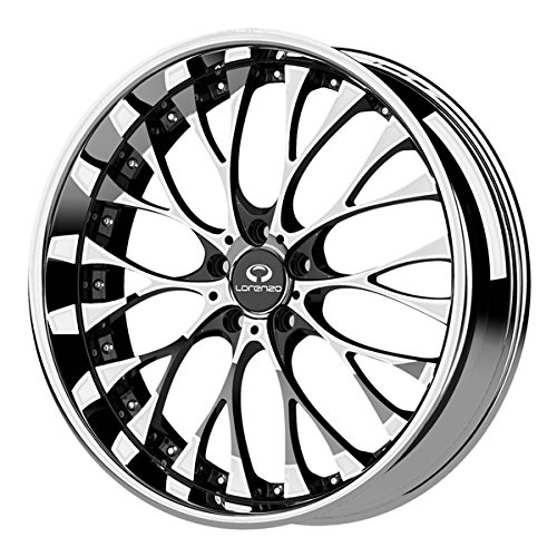 Lorenzo WL27 Chrome Wheel with Gloss Black Windows (20×10″/5x115mm, +40mm offset)
