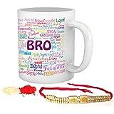 Tied Ribbons Rakhi Gifts For Elder Brother Set Of(Rakhi And Coffee Mug 325ml)