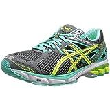 ASICS Women S GT-1000 3 Running Shoe Charcoal/Flash Yellow/Mint 6 D US