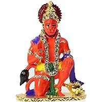 UDee IDOL Of Lord Hanuman Ji For Home Office And Car Dashboard (7 Cm X 4.5 Cm X 3.5 Cm ) (Sinduri)