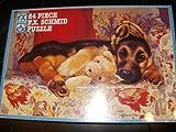 Fx Schmid 64 Piece Puzzle Pollyanna Pickering Cozy Company Dog with Teddy Bear
