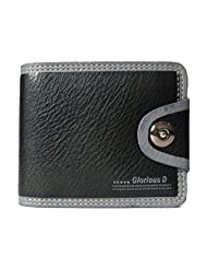 Racial Men's Casual Leather Wallet (Black) - B011YI39CC