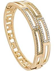 The Luxor Australian Diamond Studded Gold Plated Fashionable Kada For Women