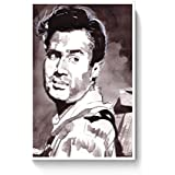 PosterGuy Unique Dev Anand Bollywood Painting Bollywood, Famous Celebrities, Paintings, Bollywood Sketch, Bollywood...