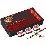 Best Rakhi Gift With Tilak And Chawal - Rakshabandhan Wishes - 6 Chocolate Box With Rakhi