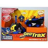 Fisher Price Fisher Price Geo Trax Super Friends Turbo Remote Control Vehicle Batmobile