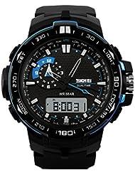 Skmei Sports Stop Watch Analog - Digital Black Dial Men's Watch - AD1081