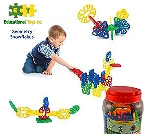Amazon.com: Educational Toys Geometry Snowflakes By ETI ...