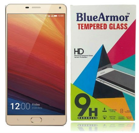 BlueArmor HD Clear Tempered Glass Screen Guard Protector For Gionee M5 Plus
