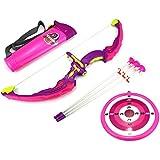 Light Up Night Princess Bow & Arrow Children's Kid's Toy Bow And Arrow Dart Playset W/ Suction Dart Arrows, Holder...