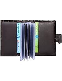 Hide&Sleek Soft Brown Hippo Designed Artificial Leather Card Holder