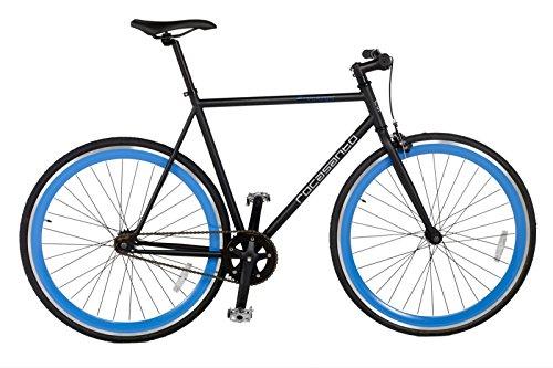 Rocasanto Bike - Bicicleta fixie v, tamaño 54, color negro / azul