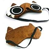 Aluckyday Monster Hunter Airou Airu Cat Plush Eye Mask Sun-shade Eye Mask for Sleeping