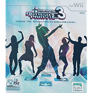 Wii Wireless Dance Dance Revolution Dance Pad Mat Controller for Hottest Party 1, 2 and 3 Games