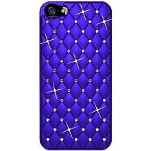 Amzer Diamond Lattice Snap On Shell Case For IPhone 5 (Dark Blue)