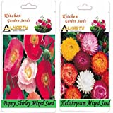 Alkarty Poppy Shirley Mixed And Helichrysum Mixed Seeds Pack Of 20 (Winter)