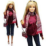 Evening Wedding Party Clothes Casual Dress Outfit Set For Barbie Doll Gift