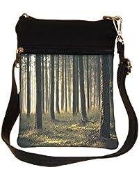 Snoogg Forest Surface Cross Body Tote Bag / Shoulder Sling Carry Bag