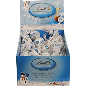 Lindt Lindor Milk & White Chocolate Holiday Snowman Truffles