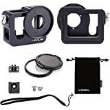 Luxebell C200 Aluminium Alloy Skeleton Thick Solid Protective Case Shell With 52mm Uv Filter For Gopro Hero 4...