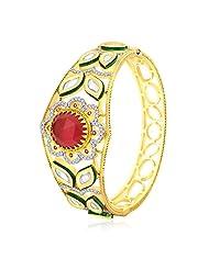 Peora 18 Karat Gold Plated Glamorous Vilandi Bangle (PB133G)