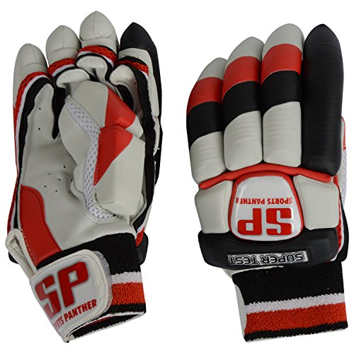 SP Sports Panther Super Test Unisex Leather And PU Batting Gloves