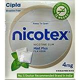 Cipla Nicotex 4mg Mint Plus Flavour(Pack Of 10 Boxes) (90 Gums)