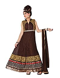 Red Apple Readymade Anarkali Dress With Exclusive D