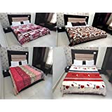 Peponi Multi Color Polyester Ac Flannel Double Blanket Set Of 4
