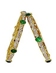 Anjan Traditional Golden Bangles For Women_ANJ227B21