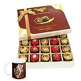 Chocholik Luxury Chocolates - 20pc Unique Combination Of Wrapped Chocolate Box With Diwali Special Coffee Mug...
