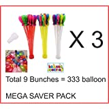 THEMEZ ONLY (TM) MEGA SALE Magic Self Sealing Instant Water Balloons - 9 Bunches - 333 Pcs