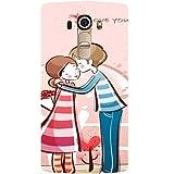 Casotec Boy Kissing Girl Design Hard Back Case Cover For LG G4