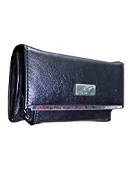 Sn Louis Artificial Leather Black Women Clutch SAMCO-701