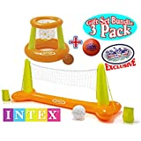 """Intex Floating Pool Volleyball Game & Floating Hoops Basketball Game With Exclusive Mattys Toy Stop 4.25"""" Vinyl..."""