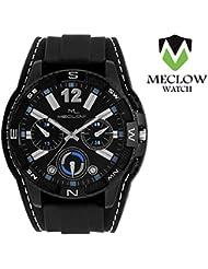 Meclow Analog Black Dial Watches For Men ML-LR-282-BLK-BLK