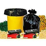 Shalimar Virgin Garbage Bag (Extra Large) Size 76 Cm X 94 Cm 6 Rolls (90 Bags) (Trash Bag/Dustbin Bag)