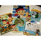 Disney Juniors Jake And The Never Land Pirates 5 Pc Gift Set Bundle Pack - Jake Inflatable Sword, Su