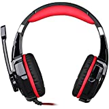 Black : Koiiko KOTION EACH G9000 Professional Headphone, Over Ear 3. 5mm Combo Gaming Stereo Noise Isolation Headset...